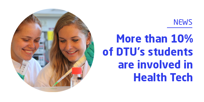More than 10% of DTU's students are involved in Health Tech